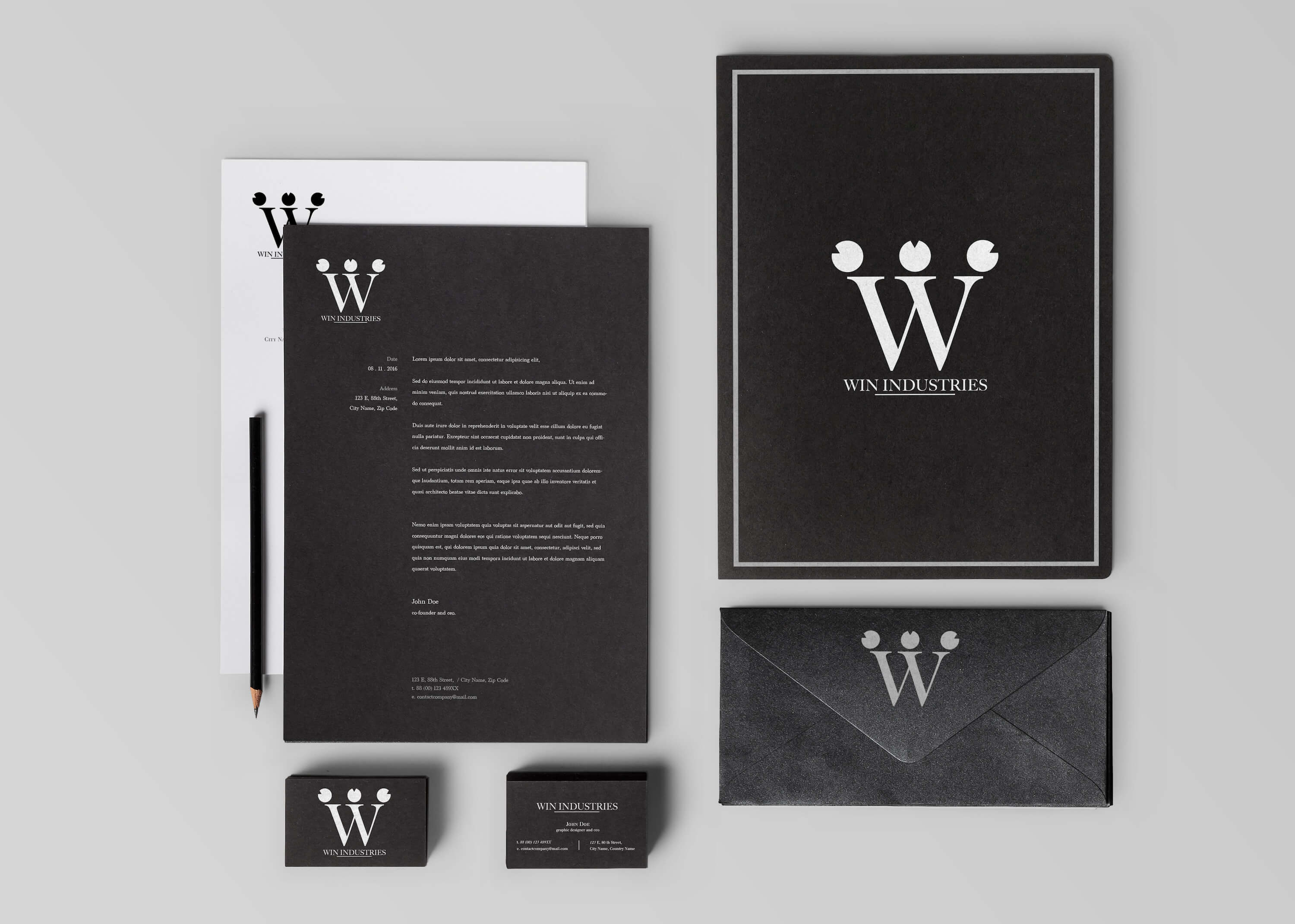 Win Industries: Stationary