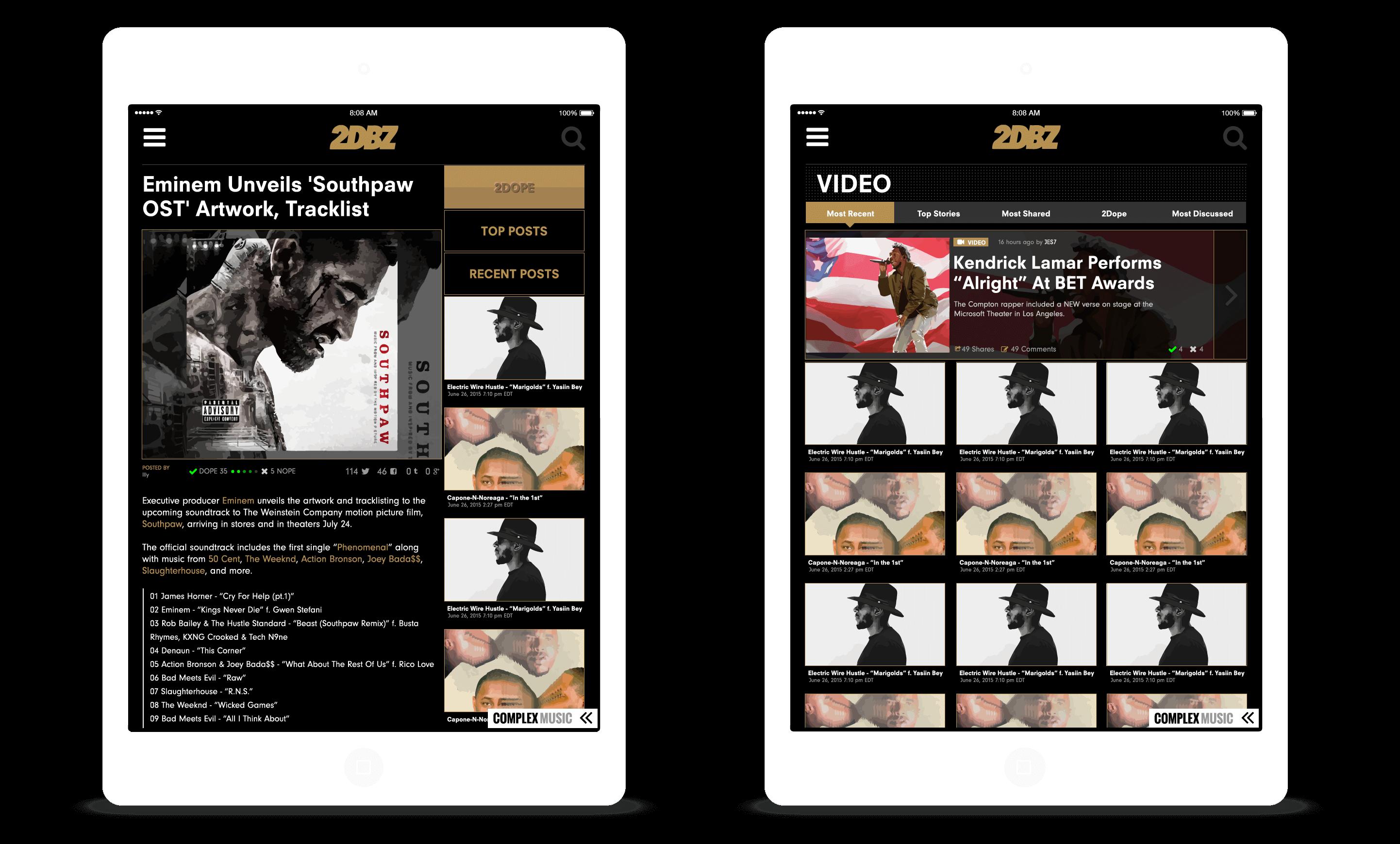 2DopeBoyz.com UI Concept