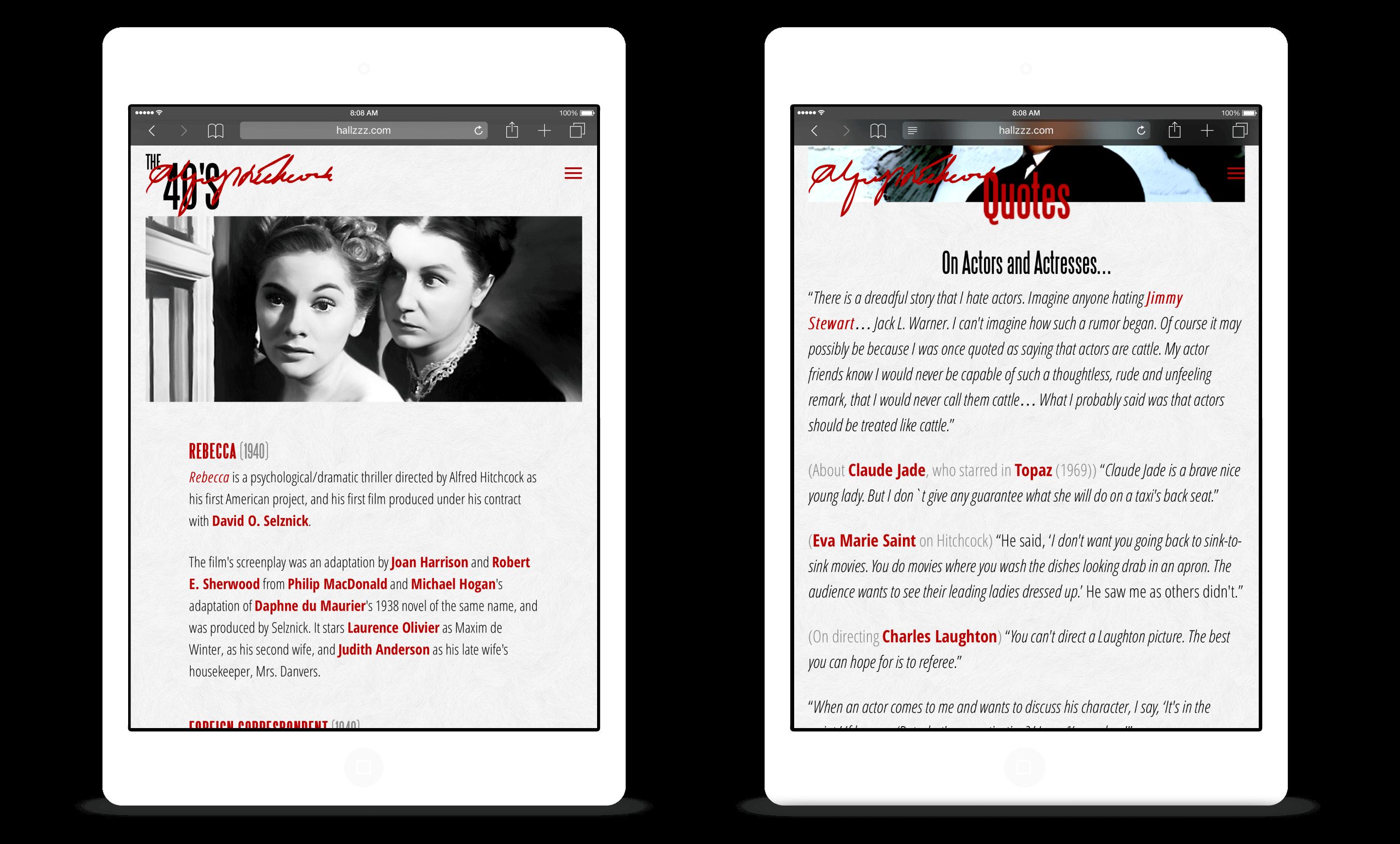Screenshots: Tablet