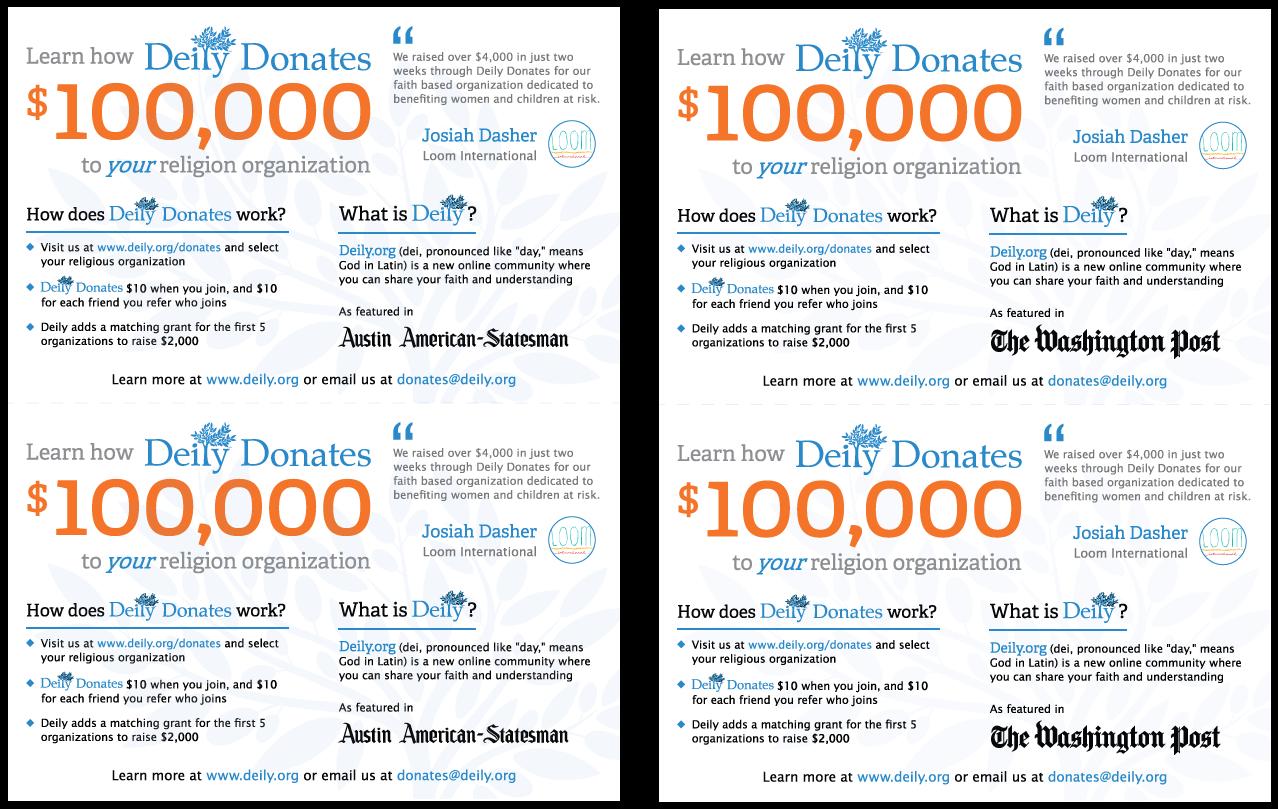 Deily.org: Deily Donates Pamphlets